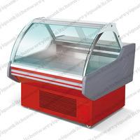 Curved Glass Deli Meat Case/deli refrigerator for supermarket