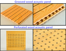 MDF Grooved Wooden Acoustic sound absorbing panel conference room sound system