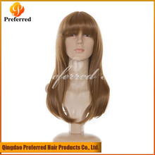 Long beautiful human hair full lace wigs with bangs best selling products in america