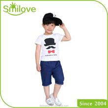 Cheap children wholesale name brand clothing white t shirts cotton fashion boys organic cotton t shirt