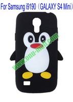 Cute Penguin Silicone Case for Samsung Galaxy s4 mini i9190