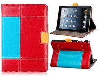 hybrid pu leather stand wallet flip pouch case for apple ipad mini