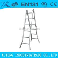 Aluminum multipurpose motorcycle ladder with en131