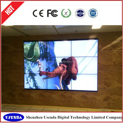 Customized service 42 inch lcd video wall with high difinition 3x3 lg DID screen
