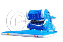 indoor playground dolphin inflatable slide for children