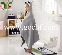 100% cotton baby and children hooded bath towel