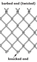 ASTM A 392 heavily galvanized chain link fence with 6ga wire