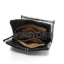 Leather coin purse with card holder wallet