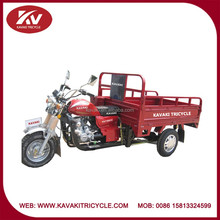 Africa red standard configuration air-cooled powerful 250cc trike motorcycle