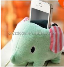 plush Mobile phone holder/plush elephant shape Mobile phone holder/Soft Stuffed Lovely Plush Mobile Phone Holder