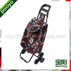 trolley shopping bag vegetable promotional hot stamping non woven bag