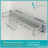New Belt Scarf Handbag Closet Steel tie Hanger Storage Organizer Rack Chrome