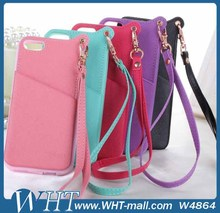 Hot Sale lanyard card TPU Soft phone case for iPhone 5