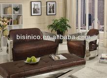 Latest fashional sofa with metal arm sofa,leisure genuine leather living room furniture,fashional home sofa set (BF01-20106)
