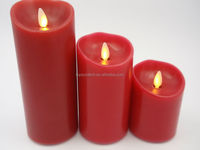 Custom Christmas decorative Moving Wick Wax Led Candle With Remote Control