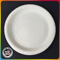 Disposable Biodegradable Cornstarch Tableware 9 inch Round Plate