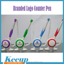 Moving Counter Desk Pen table pen with foot for Hotel Bank Advertising