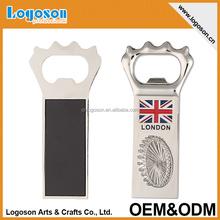 Custom tourist 3d souvenir London bottle opener fridge magnet