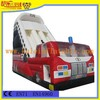 Kule hot sell painting slides/ inflatable fire truck slide