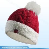 New Winter Warm Women Knitted Wool Ski Beanie Ball Hat