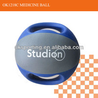 High quality medicine ball with double color and handles