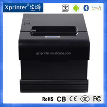 80mm QR code mini pos printer, serial+USB+LAN, 260mm/s printing speed