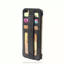 Cheap Handled Style Genuine Leather Back Cover Case With Card Slot For Iphone 6 4.7 MT-3569