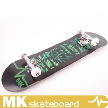 New design black MK skateboard with PU wheels,skateboard complete