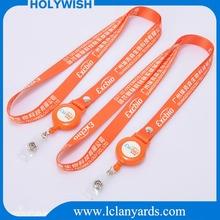 Badge Reel Polyester Heat Transfer Sublimation Neck Lanyard With Customized Logo