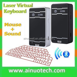 Hottest Keyboard Mouse Mini Bluetooth Virtual Laser Keyboard Mouse with Sound Fuction