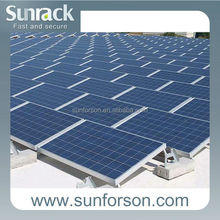 solar panel racking for roof and ground