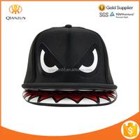 Shark Mouth Teeth Double Brim Trucker Hat Custom Children Snapback Cap
