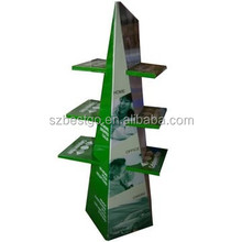 Retail point of sale cosmetic pop cardboard floor displays stands in supermarket