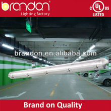 t8 waterproof fluorescent light fixtures ip65 with CE, UL,cUL approval