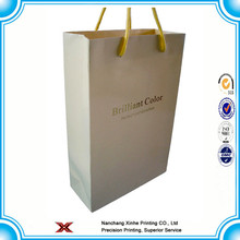 Craft paper bag / white paper shopping bag with handles / food paper bag
