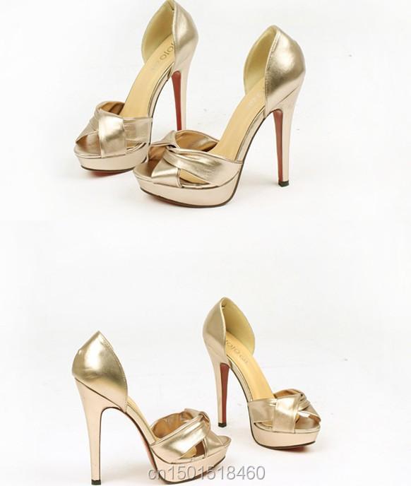 Aliexpress.com : Buy 2014 New Fashion High Heel Shoes Peep Toes ...