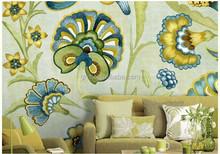 Gris New Design Nature Modern Classic Yetz Collection Pastoral Style Art Theme Saint Gallon Spring Non-woven Paper Wallpaper