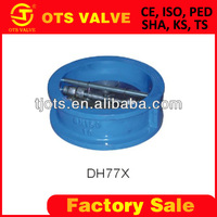 CV-SY-416 ductile iron swing spring loaded check valve double plate
