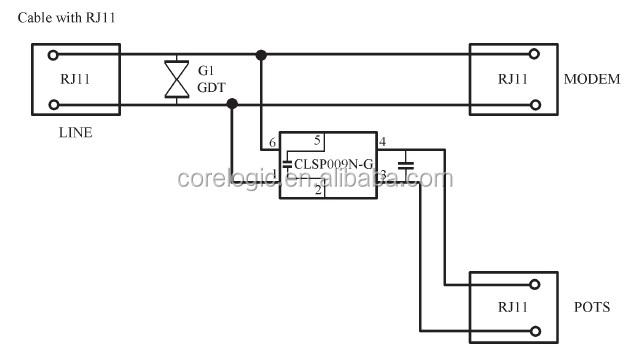 Adsl Splitter Adsl Filter Adsl2  Over Pots With Cpe