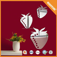 Hot sale Strawberry Colorful wall mirror sticker