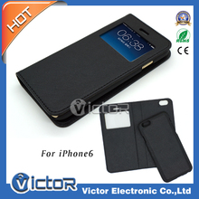 Cell Phone Flip Leather Magnetic Case for iPhone 6, for Samsung, for LG, for Nokia, for Motorola, etc.