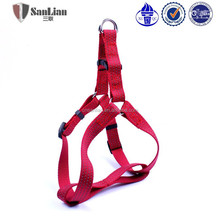 Dlazzling red color reflective silk nylon dog leash and harness dog vest with harness