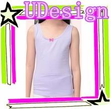 Plain blank purple girls tank tops 100 cotton bowknot tank tops custom blank tops wholesale cheap