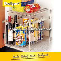 Pull out Stainless steel Kitchen Cabinet Corner Shelf