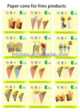 fancy &fashion paper cone bag for fried chicken