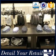 retail garment shop interior design wood modern shop counter design