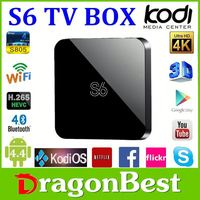 S6 S805 Tv Box Quad Core 5.0Ghz Wifi Bluetooth 4.0 Android 4.4 Os Plus Kodi Os Good Experience Dual Os Tv Box