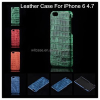 Crocodile Cowhide Genuine Leather Case for iPhone 6 Back Cover