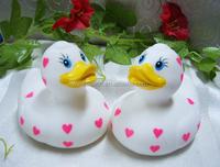 Creative squeaky cute plastic bath duck toy