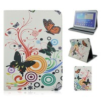 10.1inch Painted Butterfly Flip Stand PU Leather Tablet Cover Case For Samsung Galaxy Tab 4 T530